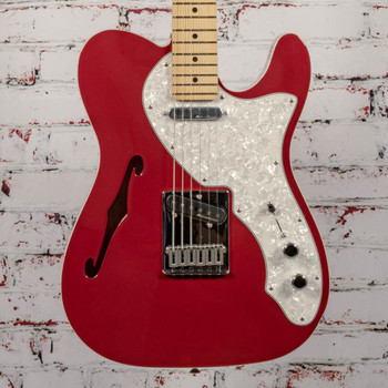 Fender Deluxe Tele Thinline Electric Guitar Candy Apple Red x1516