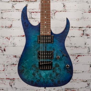 Ibanez RG421PBSBF Electric GuitarSapphire Blue Flat x5859