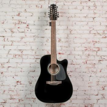 Takamine TAKGD30CE12BLK 12 String Acoustic Guitar - Black x9208