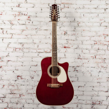 Takamine John Jorgenson 12 String Guitar Gloss Red Stain with Case x0354 (USED)