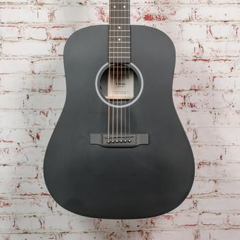 Martin D-X1E-02 Acoustic Electric Guitar, HPL Black/Black ,w/Gig Bag x0687
