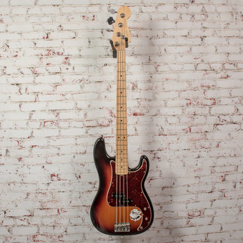 Fender 2011 American Standard Precision Bass®, Maple Fingerboard, 3-Color Sunburst, 4-Ply Brown Shell Pickguard x2338 (USED)