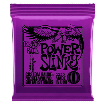 Ernie Ball 2220 Power Slinky Electric Guitar Strings 11-48