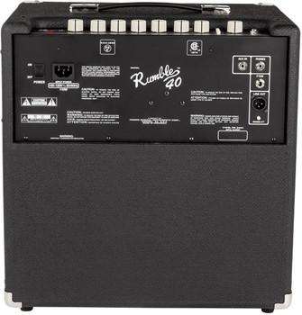 "Fender Rumble 40 V3 Bass Combo Amplifier 40w 1x10"""