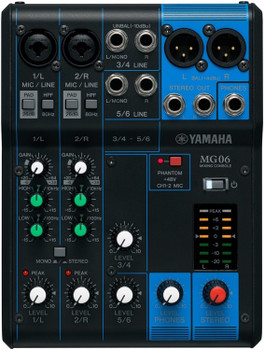 Yamaha MG06 6-Channel Analog Mixer