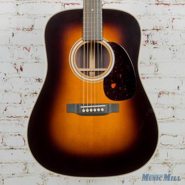 Martin Custom Shop HD-28 Sunburst Acoustic Guitar Wild Grain Rosewood, Thin Finish