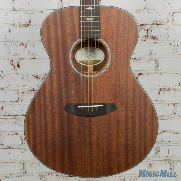 Breedlove Limited Stage Concert E Mahogany Acoustic Electric Guitar Satin Finish 4439