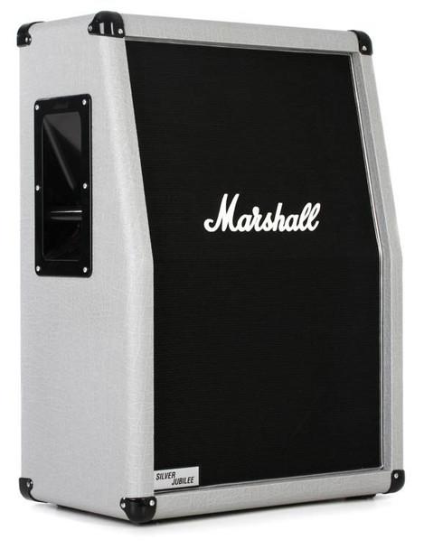 "Marshall 2536A Silver Jubilee Cab 140-watt 2x12"" Vertical Slant Extension Cabinet"