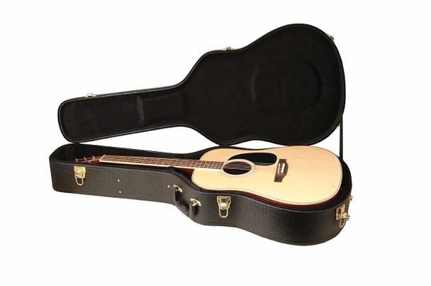 On-Stage GCA5000B Acoustic Guitar Hard Case, Black