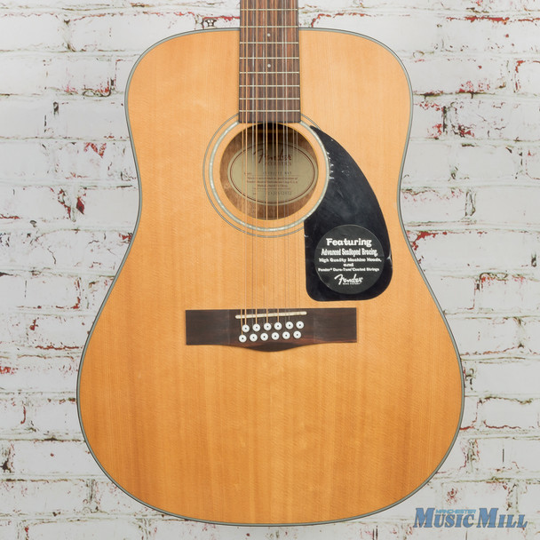 Fender CD-100-12 12 String Dreadnought Acoustic Natural (USED)