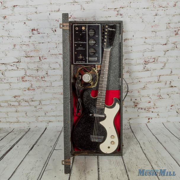 Vintage Silvertone 1448 w/ Case Amp Black (USED)