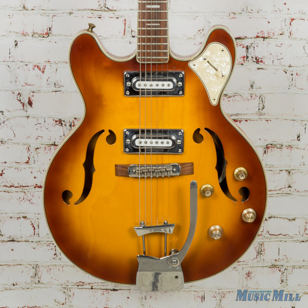 Vintage Aria Semi-Hollow Electric Guitar Vintage Sunburst (USED)