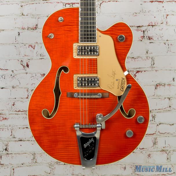 Gretsch Brian Setzer G6120ssl Nashville Hollowbody Vintage Orange w/OHSC (USED)