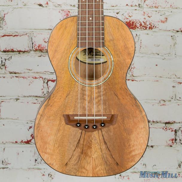 D'Angelico Guitars Bayside Concert Laminated Spalted Mango Top Ukulele, Natural