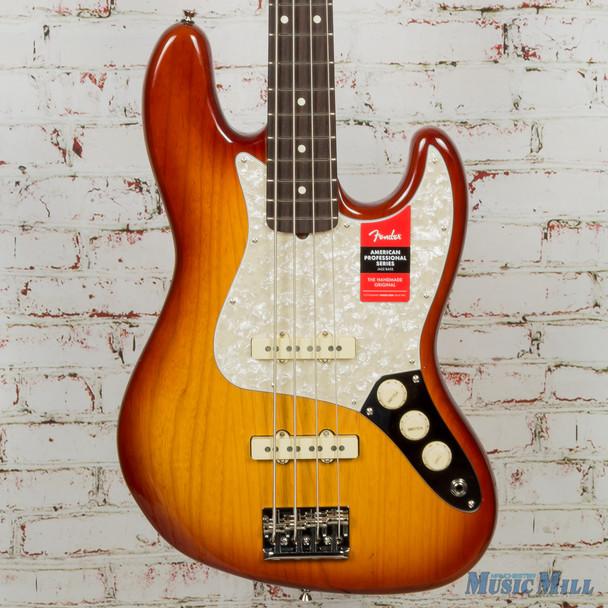Fender Lightweight Ash American Professional Jazz Bass Sienna Sunburst