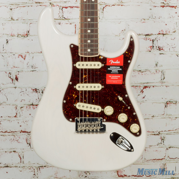 Fender LTD American Professional Stratocaster Channel-bound White Blonde x9782