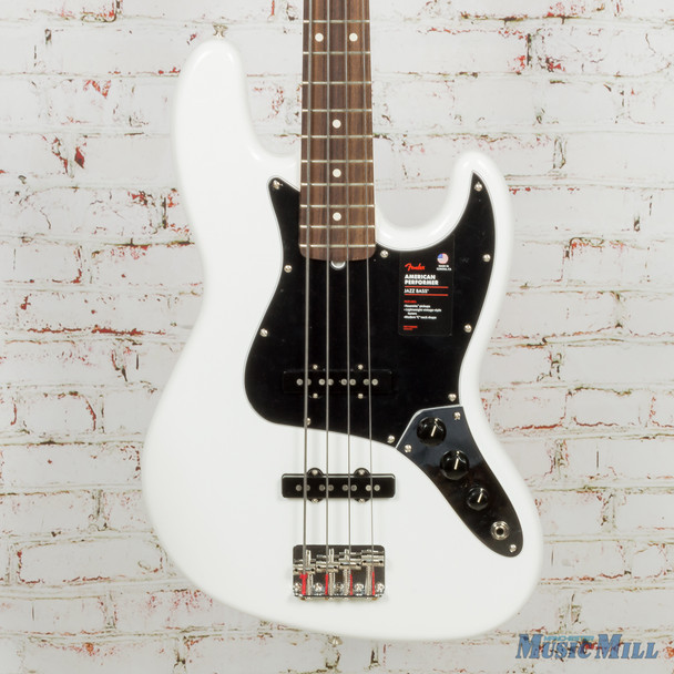 2018 Fender American Performer Jazz Bass Arctic White (USED)