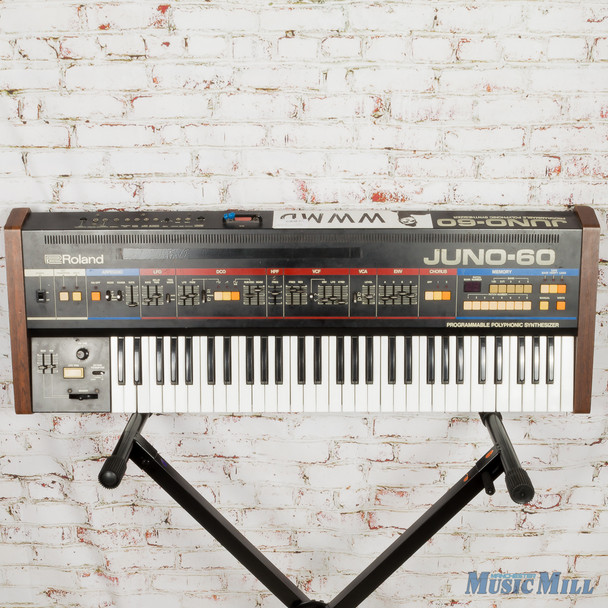 Vintage 80s Roland Juno-60 Polyphonic Synth w/ Road Case (USED)