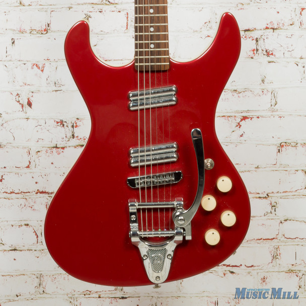 Danelectro Hodad Electric Guitar Red w/Bigsby (USED)