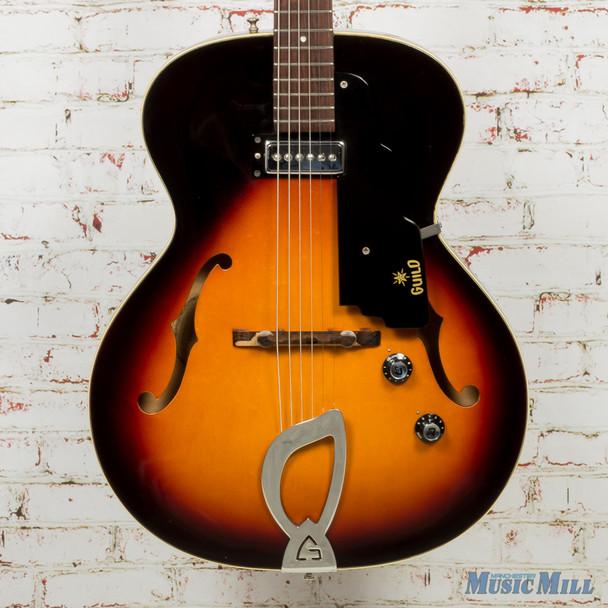 1964 Guild T-50 Slim Hollow-Body Electric Guitar Sunburst w/HSC