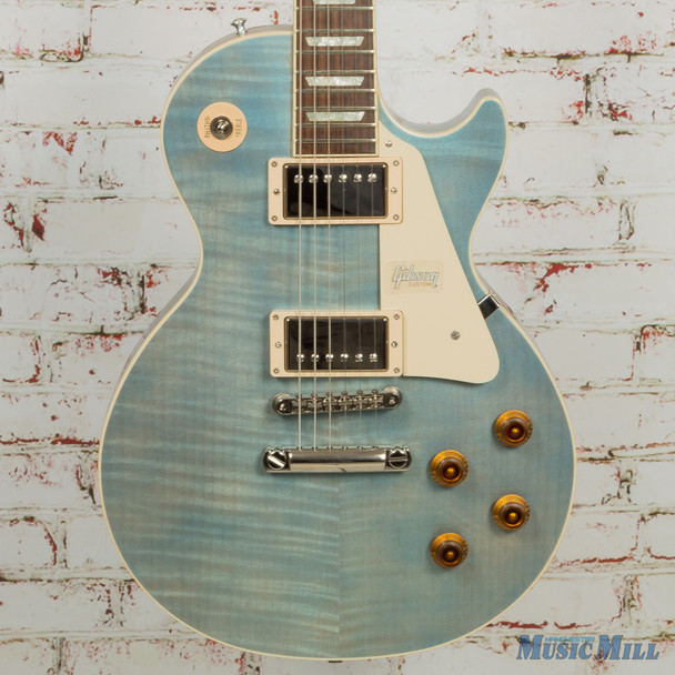 Gibson Custom Modern Les Paul Standard - Trans Pelham Blue - New Old Stock x0168