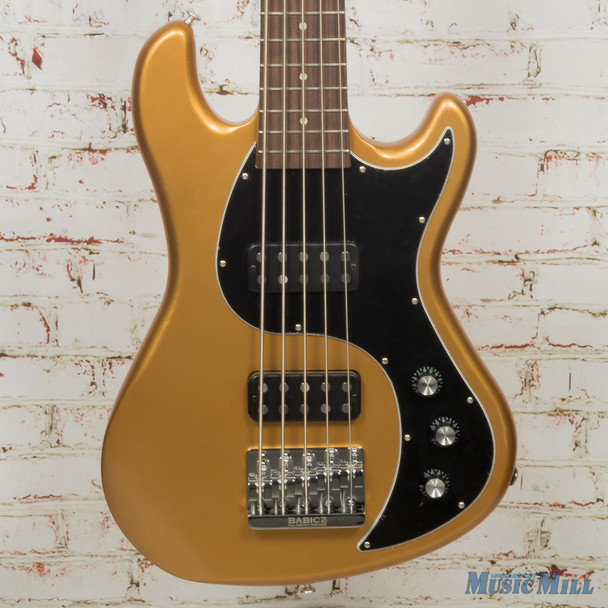 2014 Gibson EB Bass 5 String - Bullion Gold Vintage Gloss w/Bag