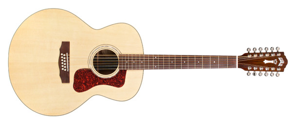 Guild F-1512E 12-String Acoustic-Electric NAT W/C, B stock