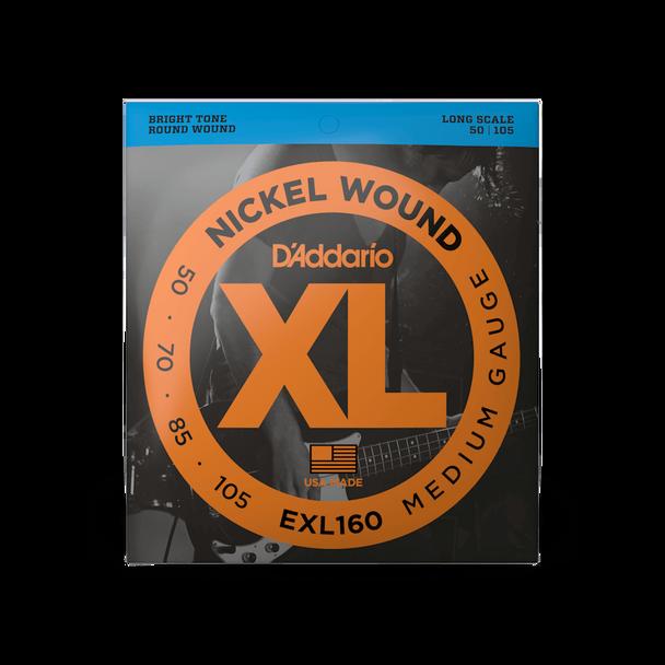 D'Addario XL Bass Strings 50-105 EXL160
