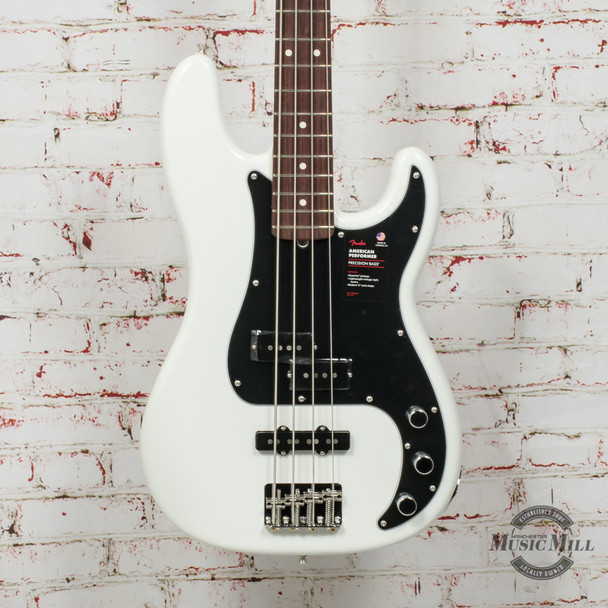 Fender American Performer Precision Bass® Electric Bass, Rosewood Fingerboard, Arctic White x0690