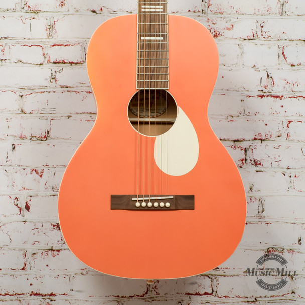 Recording King Dirty 30's Series 7 Single 0 RPS-7 Acoustic Guitar Monarch Orange x8964