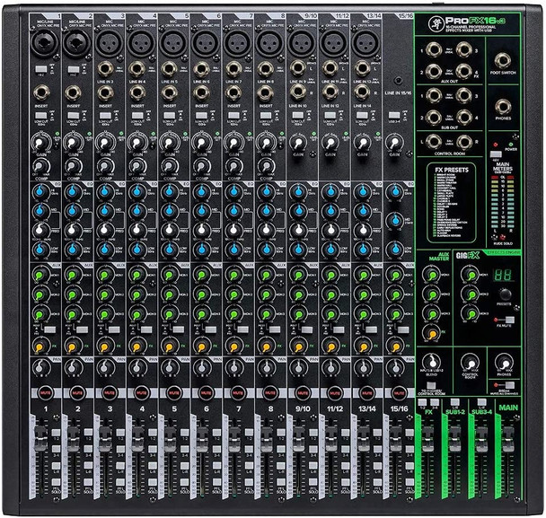 Mackie ProFXv3 Series, 16-Channel Professional Effects Mixer w/USB - Unpowered