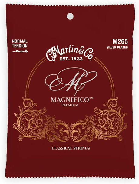 Martin Guitar Magnifico M265, Normal-Tension Tie End Classical Acoustic Guitar Strings