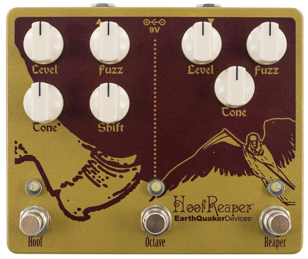 Earthquaker Devices Hoof Reaper V2 Octave Fuzz Effect Pedal