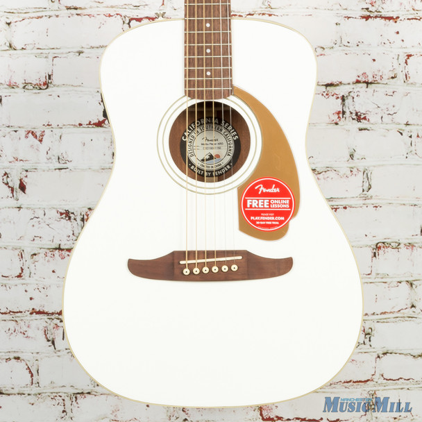 Fender California Series Malibu Player Acoustic Electric Guitar Arctic Gold