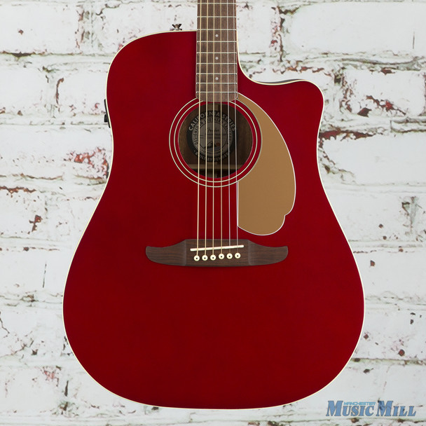 Fender California Series Redondo Player Acoustic Electric Guitar Candy Apple Red (0970713509)