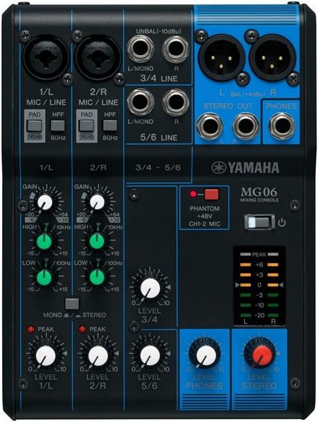 Yamaha MG06 6-Channel Analog Mixer