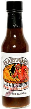 Crazy Jerry's Devil Brew Garlic Hot Sauce