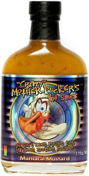 Crazy Mother Pucker's Maniacal Mustard Hot Sauce