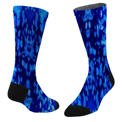 Sublimity® Army of Jellies Print Crew Socks- Size (9-11)