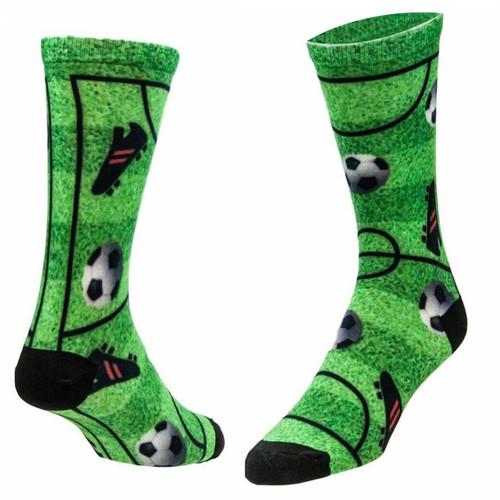 Sublimity® Soccer Field Sock Novelty (1 pair) Casual Dress Socks