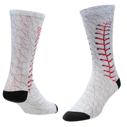 Sublimity® Baseball Allover Novelty (1 Pair) Casual Dress Socks
