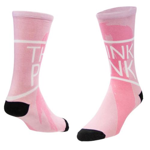 Sublimity® BCA White Ribbon Novelty (1 Pair) Women's Casual Socks