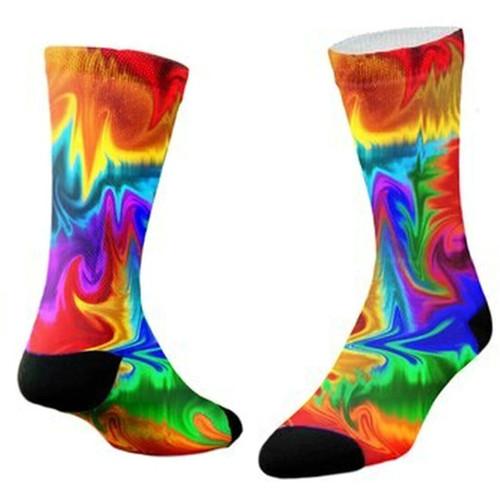 Sublimity® Dreamer Tie Dye Print Crew Socks (1 Pair) Size 10-13