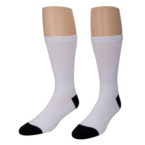 Sublimity® Dye Sublimation Blank Tube Socks Large (12 Pair Pack)