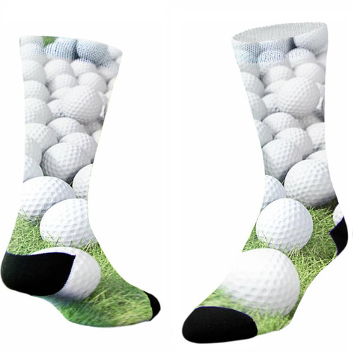 Sublimity® Golf Addiction Print Crew Socks (1 Pair)