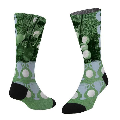 Sublimity® Champ Print Crew Socks (1 Pair) Size 9-11