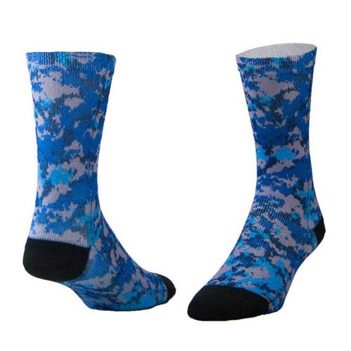 Sublimity® Camouflage Print Crew Socks Sport Blue Camo (1 Pair)