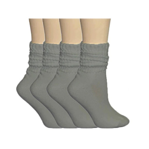American Made Light Weight Cotton Slouch Socks (12 Pair Pack)