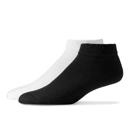 Sole Pleasers Diabetic Low Cut Socks (12 Pair Pack) Choose Color & Size