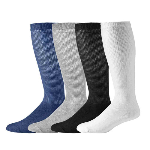 Sole Pleaser's Over the Calf Diabetic Crew Socks (12 Pair Pack)